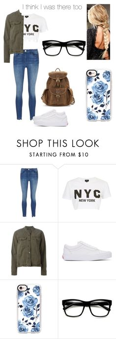 """""""I think I was there too"""" by kendall-bostic ❤ liked on Polyvore featuring 3x1, Topshop, J Brand, Vans and Casetify"""