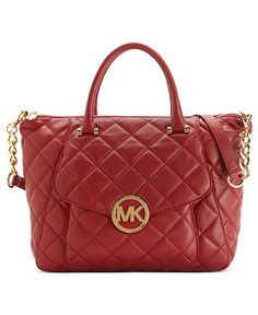 Paint the town in red: MICHAEL MICHAEL KORS #handbag #red #satchel BUY NOW!