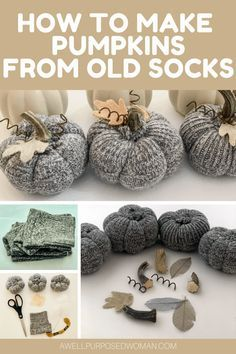 Easy Fall Crafts, Thanksgiving Crafts, Holiday Crafts, Fall Pumpkin Crafts, Fall Wood Crafts, Thanksgiving Decorations, Fall Halloween, Halloween Crafts, Fabric Pumpkins