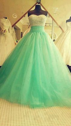 mint green wedding dress | Mint Green