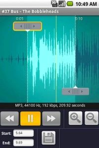 Ringdroid. Create android ringtone from mp3.