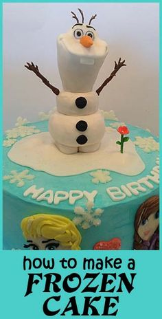 Adorable cake with Olaf from Frozen!