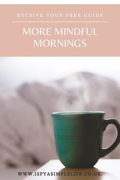 Do you wish you could start the day in a calmer more mindfulness way? This free guide to mindful mornings include easy and quick ideas, exercises and practices to wake up your mind,body and souls and invite calm into your life. Mindfulness Books, Meditation Books, What Is Mindfulness, Essential Oil Candles, Morning Habits, Yoga Equipment, Mummy Bloggers, Aromatherapy Candles, Mindful Living