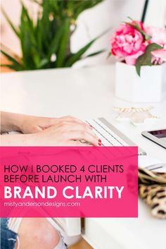 Are you having problems booking new clients? Learn how I booked 4 new clients by using brand clarity. Join the FREE 7-Day Brand Clarity Challenge. branding | brand design | personal brand | business brand |brand identity