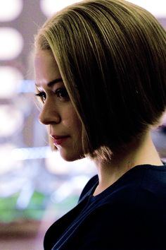 Orphan Black:  Rachel Duncan Not my favorite clone; but I covet her hair.