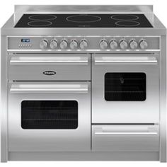 britannia delphi 110 xg induction range cooker in stainless steel