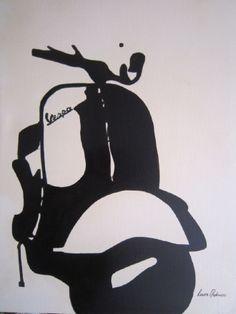 (¯`'•.VESPA.•'´¯) quadro dipinto a mano moderno, stile pop art 50X70