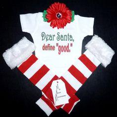 Christmas Onesie & Leg warmers