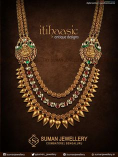 Showcasing a fine elegance and sheen, reflects an amalgamation of Indian cultures, traditions and customs at Suman jewellery. ‪#‎temple‬ ‪#‎lakshmi‬ ‪#‎necklace‬ ‪#‎gold‬ ‪#‎jewellery‬ ‪#‎tradition‬