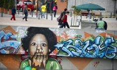 Graffit in Bogota, Colombia, where it has been officially legalised.