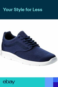 4ab691376a2 Vans Iso 1.5 Estate Blue White Mens Mesh Low-top Lace-up Sneakers Trainers