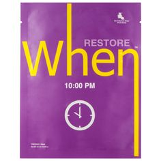 What it is:A single-use, individually packaged, soft sheet mask to help restore your skin's healthy-looking glow. What it is formulated to do:When your skin feels tired and worn, find comfort with When 10:00 PM to rejuvenate and restore. The soft, j
