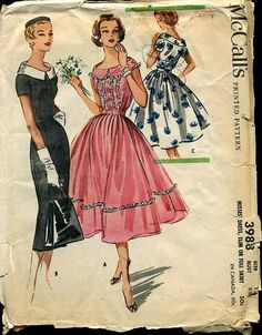 63bcaadcfc93 McCalls3988 size 34 bust 60s Patterns