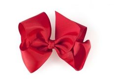 X-Large Hair Bow | Red | Hair Accessories | Accessories | Amaiakids contact@amaiakids.co.uk  www.amaiakids.co.uk