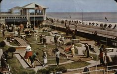 Miniature Golf on the Famous Boardwalk Asbury Park New Jersey in the 1950s