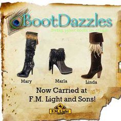 Introducing: Boot Dazzles - Trim for your boots - carried at F.M. Light and Sons in Steamboat Springs, CO | Western Wear | Styles: Mary, Marla and Linda