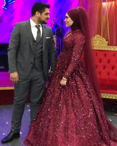 Muslimah Wedding Dress, Disney Wedding Dresses, Pakistani Bridal Dresses, Pakistani Wedding Dresses, Wedding Gowns, Hijab Bride, Muslim Couples, Muslim Brides, Muslim Fashion