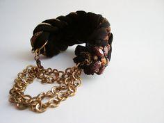 Unique Bracelets for women Fabric Bracelet por DesignHappyDay