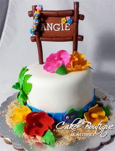 Luau Cake, Pastel Hawaiano