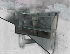 KRob Architecture Competition - Architectural illustration, delineation and drawing competition. Architects and architecture students submit architectural sketches for architecture competition. Revit Architecture, Architecture Drawings, Concept Architecture, Architecture Graphics, Interior Architecture, Layout Design, Architectural Section, Architectural Presentation, Architectural Sketches