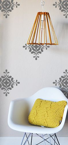 12 individual decals - 12 x 12      Fully removable and reusable wall decals that will brighten and add character to any room. **PLEASE NOTE THAT