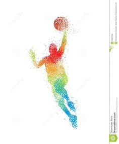Illustration about Silhouette Basketball player drafted by the stars. Illustration of approach, artistic, action - 50097696 Basketball Design, Basketball Art, Basketball Players, Basketball Quotes, Half Sleeve Tattoos For Guys, Sports Art, Nba Players, Deco, Diy Wall