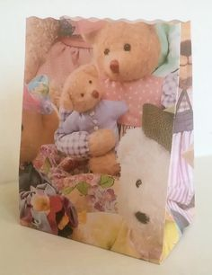 Cute Teddy bear bags for gifts or favors.