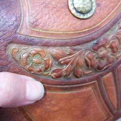 Jemco Vintage Arts Crafts Hand Tooled Leather Purse Art Deco Nouveau Craftsman | eBay
