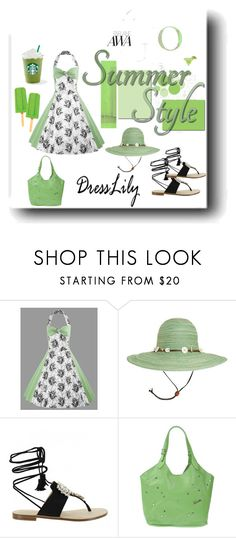 """""""Summer Green"""" by neesyrn ❤ liked on Polyvore featuring Sunday Afternoons and Tosca Blu"""