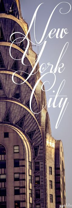 NYC..The Chrysler building is known for its Art Deco design...✿ڿڰۣ(̆̃̃-- ♥…