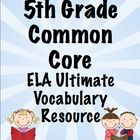 Vocabulary is essential! Help your students master the vocabulary from the 5th Grade ELA Common Core Standards. This 250 page printable packet includes a printable word wall, flip books, domain headings, and flash cards. This will save you HOURS of work! On sale 8/12 - 8/13, use coupon code BTS12 and get an extra 10% off!