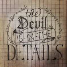 """""""The Devil is in the details"""" - a little work I did while I was in Czech Republic :) #calligraphy #devil #pencil hope you like it!"""