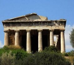 Temple of Hephaistos (Ναός του Ηφαίστου ) Thissio, Athens / by Vasilis Anastopoulos  http://www.panoramio.com/photo/60181250