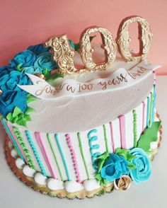 2tarts Bakery On Instagram Its Always A Special Day When You Get To Make Cake For Someones 100th Birthday Wow