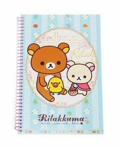 Rilakkuma, eli rento karhu, osaa nimensä mukaisesti ottaa rennosti! Nyt hän on täällä rentouttamassa päivääsi tämän suloisen muistikirjan avulla. Myös sisäsivuilla on kuviointi.