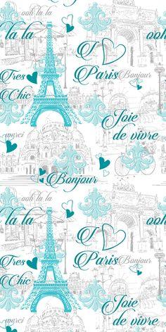 Removable Wallpaper, Peel and stick wallpaper, French wallpaper, Paris blue wallpaper, nursery wallpaper, nursery decor, Self adhesive