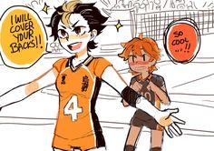Nishinoya is cool, that's nothing new. genderbender nishinoya and hinata Haikyuu Genderbend, Haikyuu Nishinoya, Kageyama X Hinata, Haikyuu Fanart, Haikyuu Anime, Kagehina, Otp, Haikyuu Volleyball, Cartoon Books