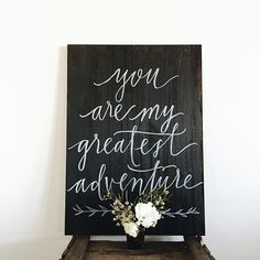 Painted this sign for a dear friend's wedding. @bloomwell.co