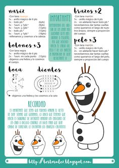 Crochet amigurumi free patterns disney olaf from frozen 45 Ideas for 2019 Olaf Crochet, Frozen Crochet, Crochet Amigurumi Free Patterns, Crochet Baby Hats, Crochet Toys, Disney Olaf, Patron Crochet, Crochet Flower Tutorial, Crochet Bookmarks