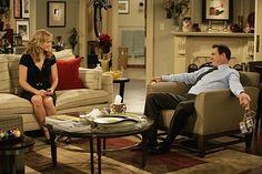 Megyn Price and Patrick Warburton in Rules of Engagement Megyn Price, Patrick Warburton, Rules Of Engagement, Home Tv, Furniture Layout, Set Design, Picture Photo, Favorite Tv Shows, Interior Design