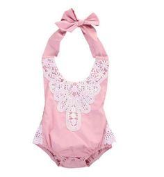 Emma Girls Dusty Rose Pink Vintage Lace Halter Romper - Baby Girl Romper - Fall Romper - Birthday Romper - Shabby Chic Baby Romper