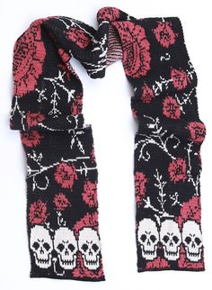 Gearing up for all things Halloween with this kickbutt skull scarf! Made from 75% pre-consumer recycled cotton in the USA, it's perfect for any Halloween ensemble! Get yours today! | #RecycledFashion #Halloween #Skull #AwesomeFashion