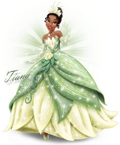 Images of Tiana from The Princess and the Frog. Black Disney Princess, Frog Princess, Tangled Princess, Princess Merida, Princess Bubblegum, Walt Disney Princesses, Walt Disney Characters, Disney Princesa Tiana, Aurora Disney