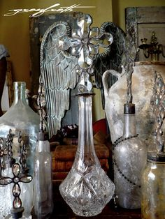 The ethereal cross bottles of Isabeau Grey