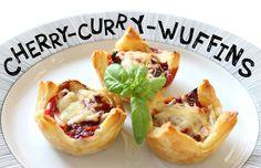 Ausgefallenes Currywurst-Rezept: Currywurst-Muffins mit rumschmer Kirsche.