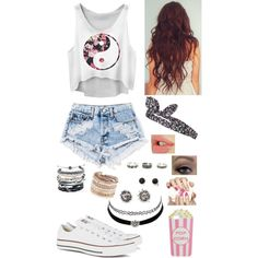 Untitled #15 by bubblegumboy on Polyvore featuring polyvore, fashion, style, Converse, Domo Beads, ALDO, With Love From CA, Charlotte Russe, Skinnydip, Topshop and Essie