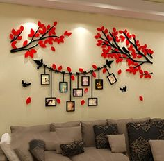 Alicemall Mirror Flower Wall Sticker Art Removable Acrylic Mural Decal Wall Sofa Home Room Decor Silver Color (Silver) Wall Stickers Family, Photo Wall Stickers, Wall Stickers Home Decor, Kitchen Wall Stickers, Room Wallpaper Designs, Bedroom Wall Designs, Bedroom Decor, Wall Painting Decor, Diy Wall Art
