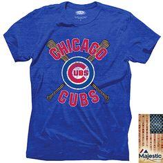 Chicago Cubs Cross Bats Triblend T-Shirt - MLB.com Shop