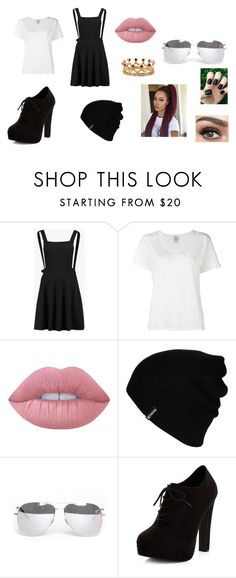 """""""Looking good"""" by royal727 on Polyvore featuring Boohoo, Visvim, Lime Crime, Hurley, Yves Saint Laurent, New Look, Bochic, pinafores and 60secondstyle"""