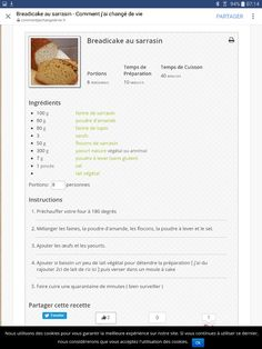 Cake sarrasin choupyhealthy healthy
